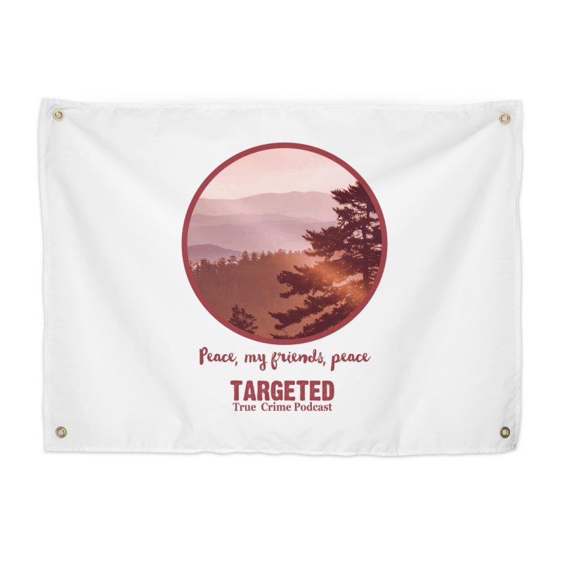 Peace Mountain Red Home Tapestry by targetedpodcast's Artist Shop