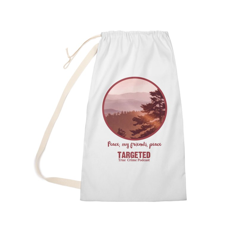 Peace Mountain Red Accessories Bag by targetedpodcast's Artist Shop