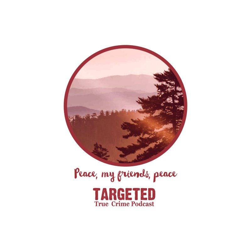 Peace Mountain Red Home Mounted Aluminum Print by targetedpodcast's Artist Shop