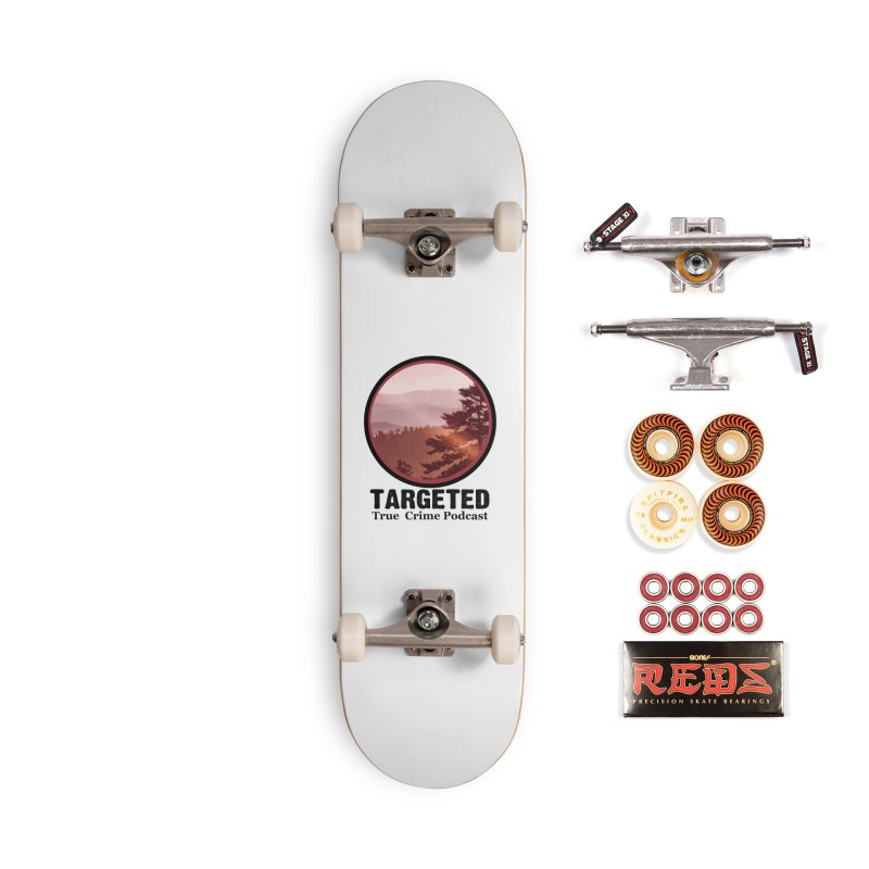 Mountain Logo Black Font Accessories Skateboard by targetedpodcast's Artist Shop