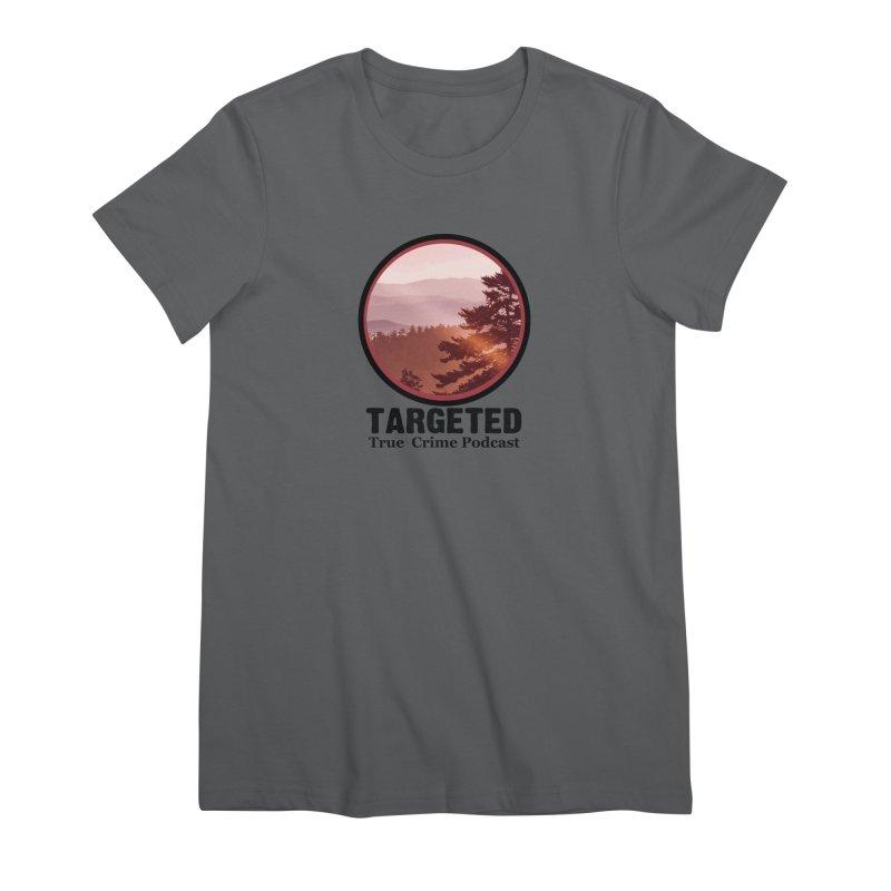 Mountain Logo Black Font Women's T-Shirt by targetedpodcast's Artist Shop