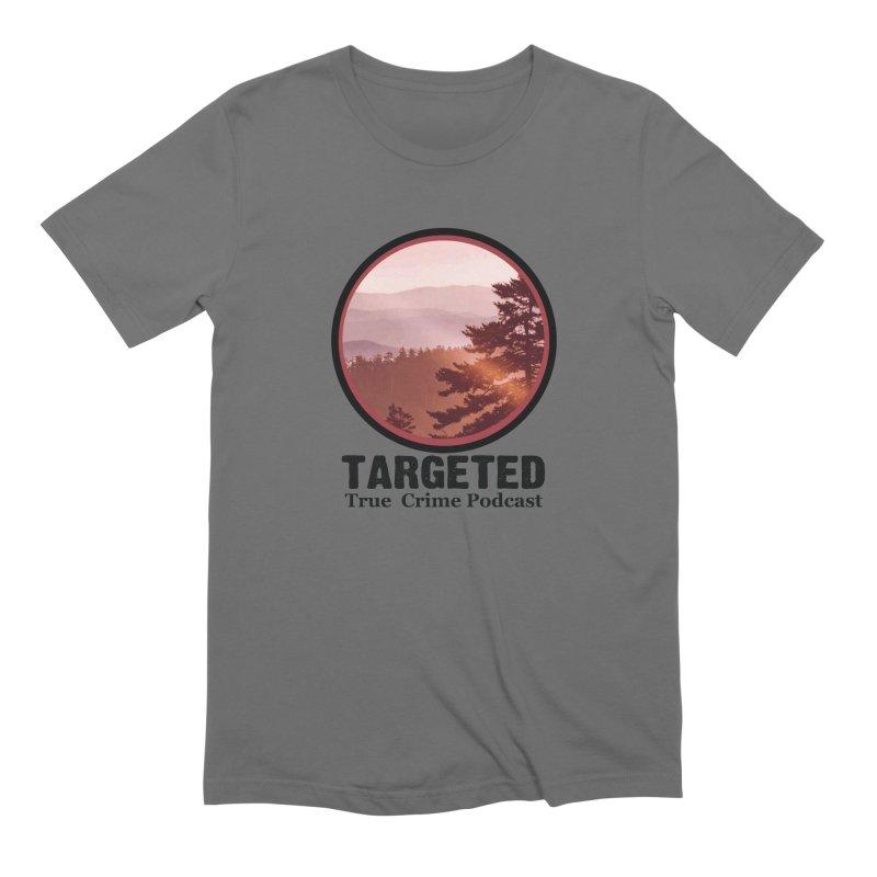 Mountain Logo Black Font Men's T-Shirt by targetedpodcast's Artist Shop