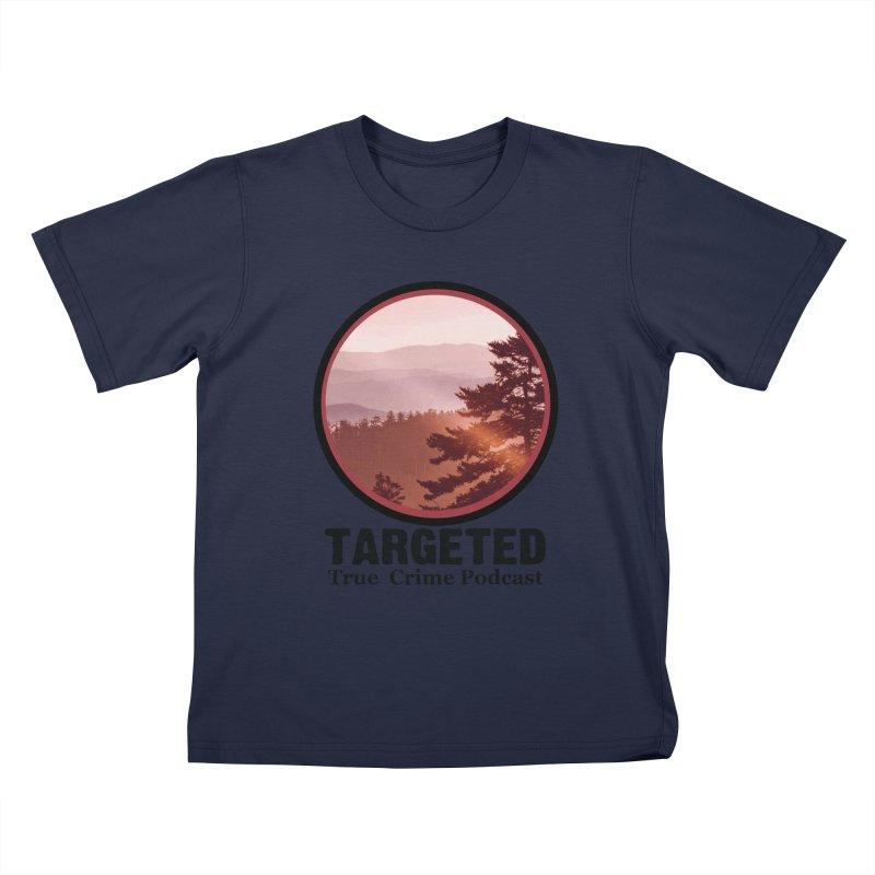 Mountain Logo Black Font Kids T-Shirt by targetedpodcast's Artist Shop