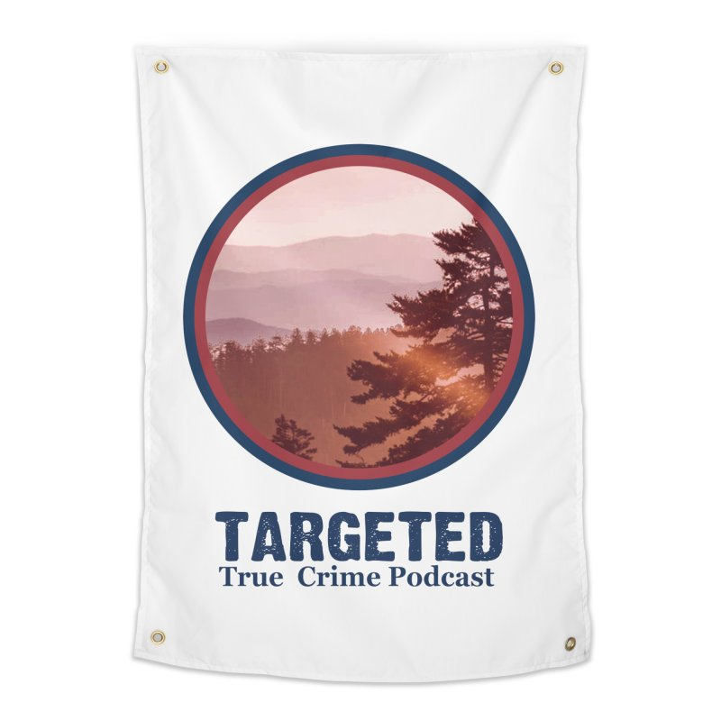 Targeted Podcast Mountain Logo Blue Home Tapestry by targetedpodcast's Artist Shop