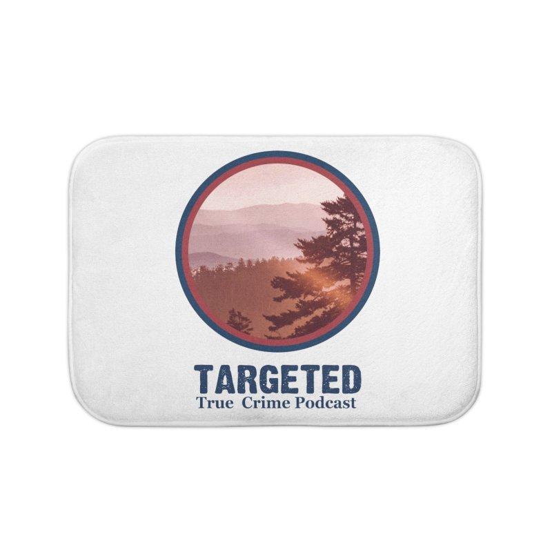 Targeted Podcast Mountain Logo Blue Home Bath Mat by targetedpodcast's Artist Shop