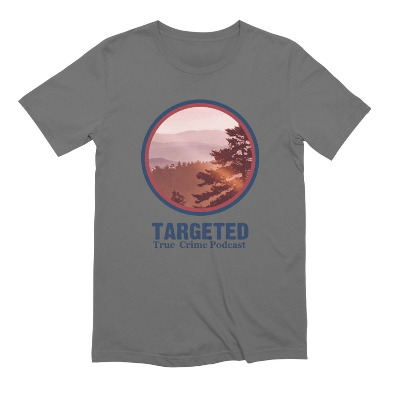 Targeted Podcast Mountain Logo Blue Men's T-Shirt by targetedpodcast's Artist Shop