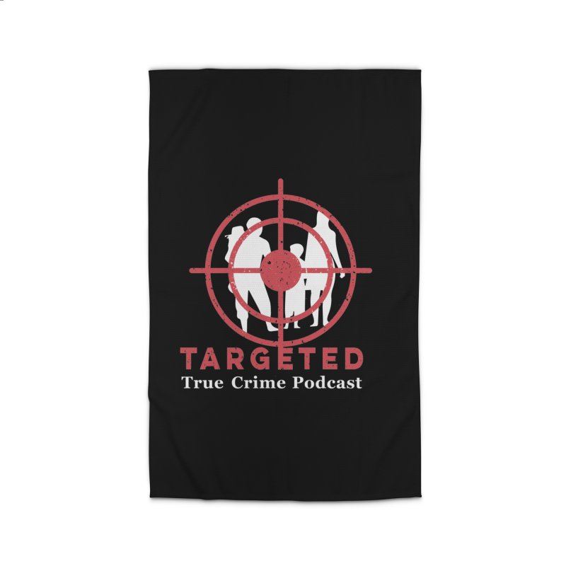 Targeted Podcast for Black Background Home Rug by targetedpodcast's Artist Shop