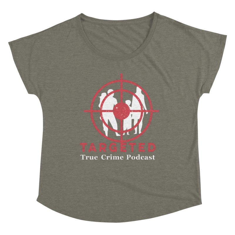 Targeted for Multicolor Backgrounds Women's Scoop Neck by targetedpodcast's Artist Shop