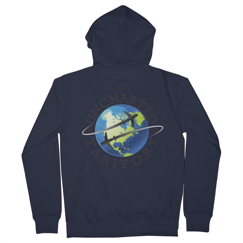 Uncharted Taritory Logo Women's French Terry Zip-Up Hoody by UnchartedTaritory's Artist Shop