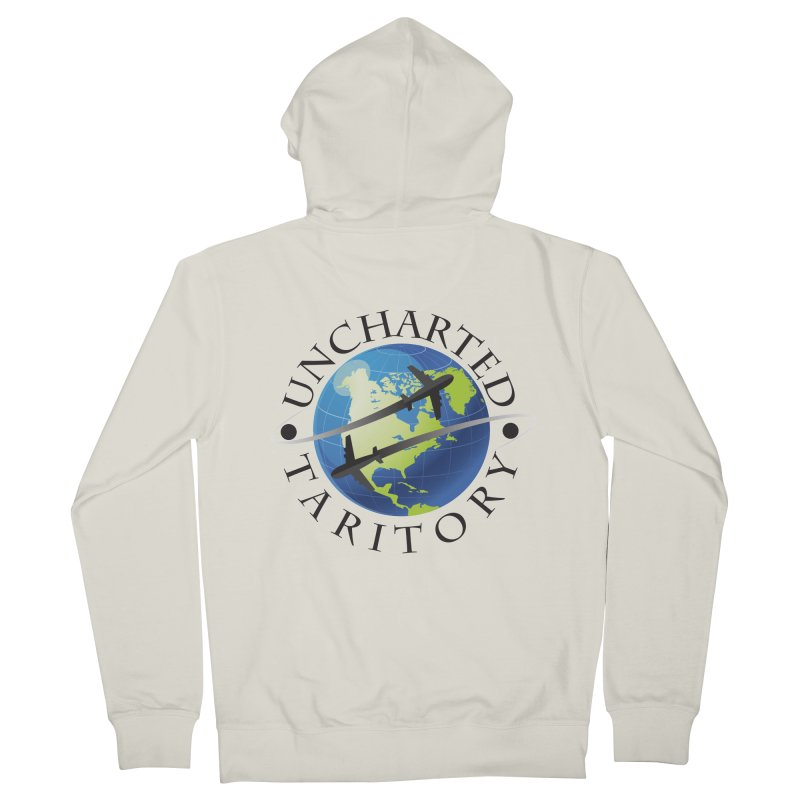 Uncharted Taritory Logo Men's French Terry Zip-Up Hoody by UnchartedTaritory's Artist Shop