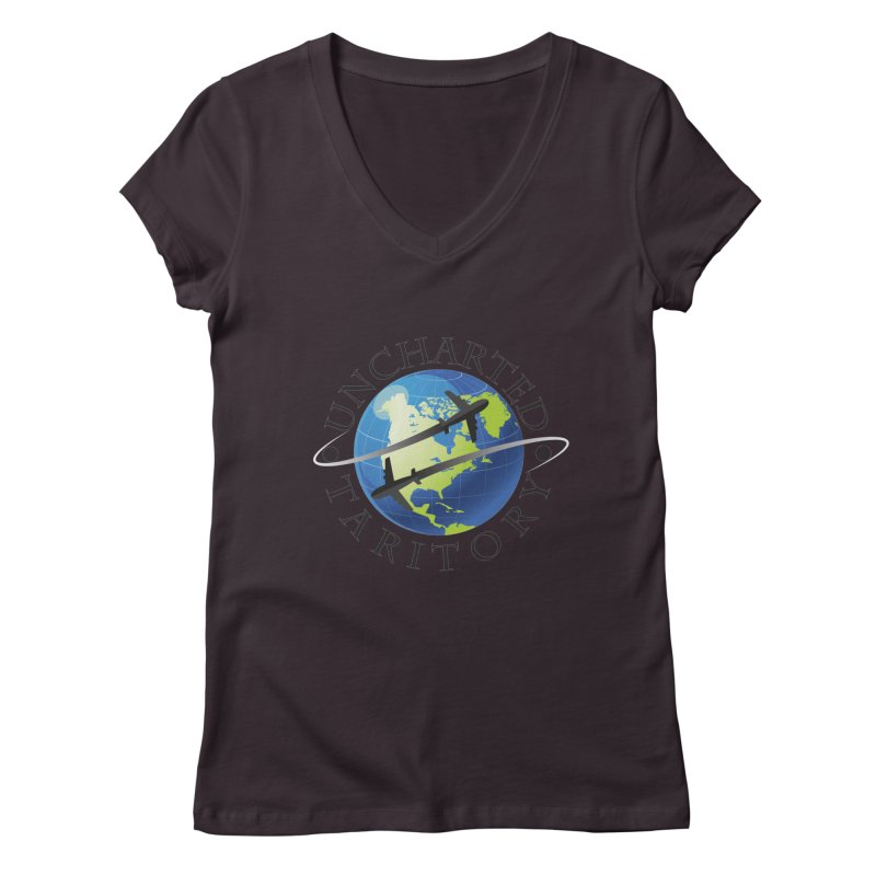 Uncharted Taritory Logo Women's Regular V-Neck by UnchartedTaritory's Artist Shop