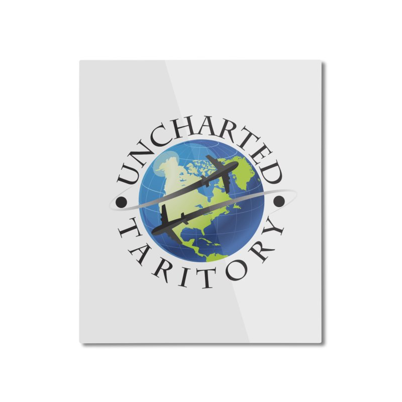 Uncharted Taritory Logo Home Mounted Aluminum Print by UnchartedTaritory's Artist Shop