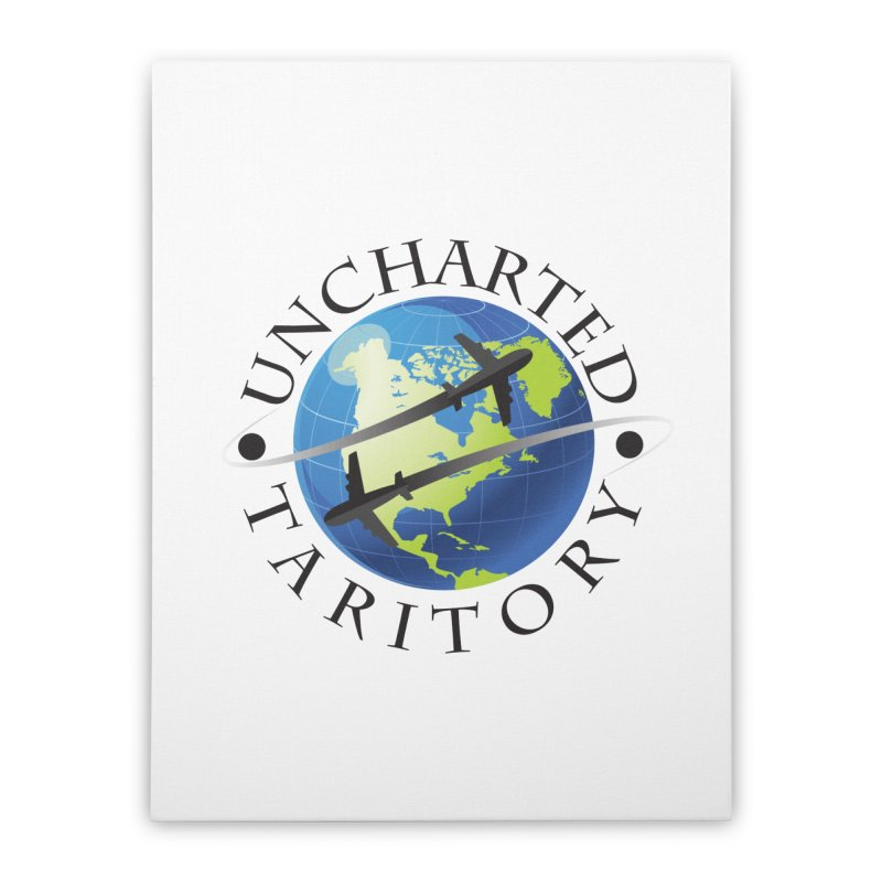 Uncharted Taritory Logo Home Stretched Canvas by UnchartedTaritory's Artist Shop
