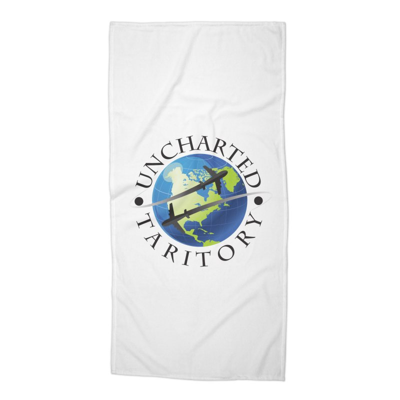 Uncharted Taritory Logo Accessories Beach Towel by UnchartedTaritory's Artist Shop