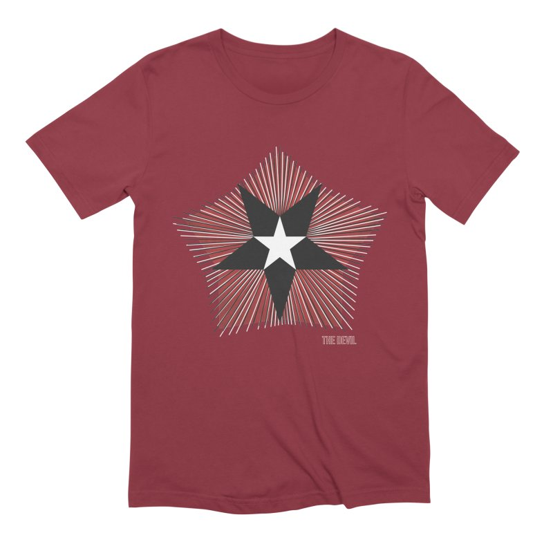 AHT The Devil in Men's Extra Soft T-Shirt Scarlet Red by Tarotator shop