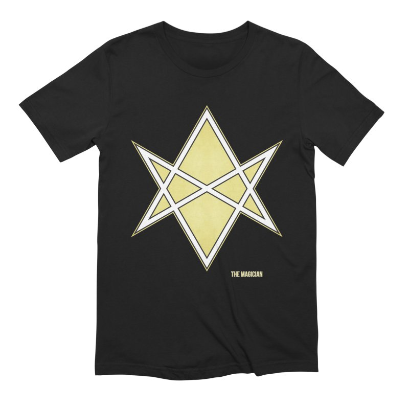 AHT The Magician in Men's Extra Soft T-Shirt Black by Tarotator shop