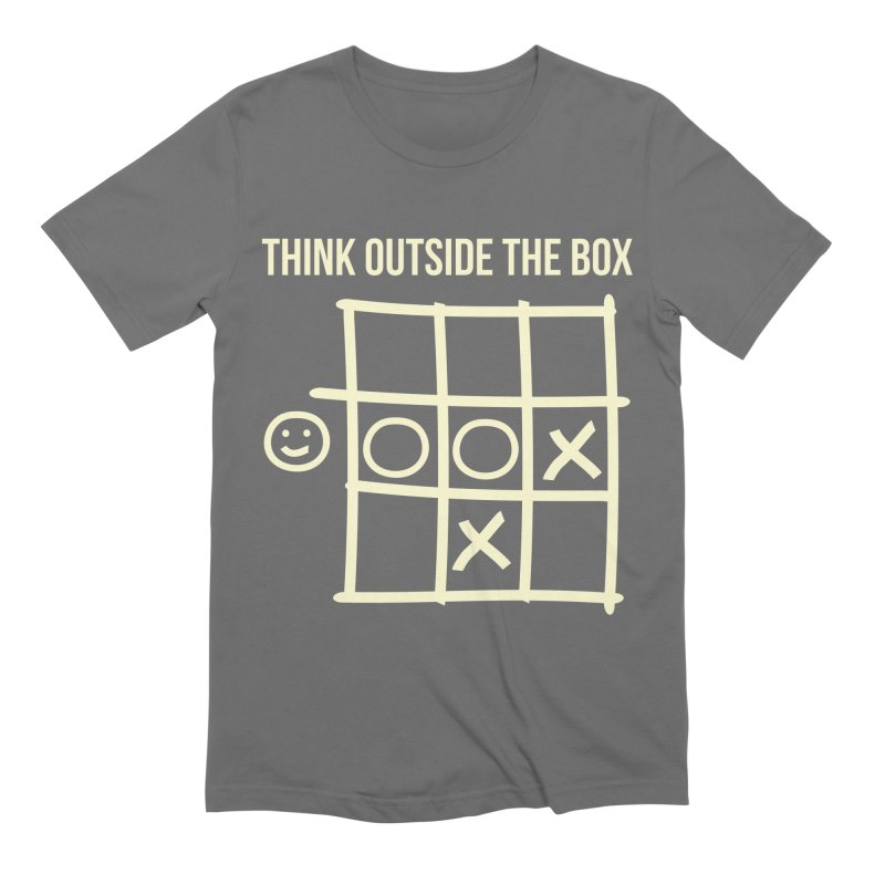 Think outside the box v.1 in Men's Extra Soft T-Shirt Asphalt by Tarotator shop