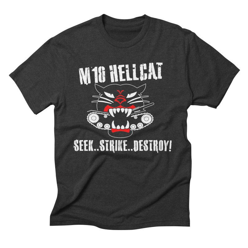 Tank Destroyer M18 Hellcat #002 in Men's Triblend T-Shirt Heather Onyx by TaterSkinz's Artist Shop