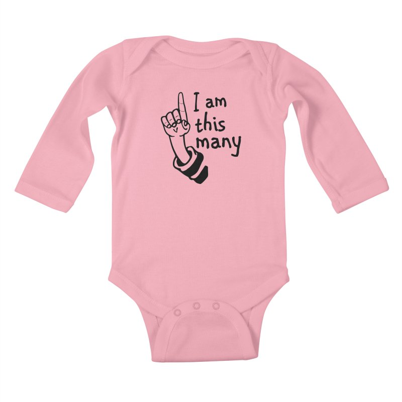 I am this many Kids Baby Longsleeve Bodysuit by Taterskinz