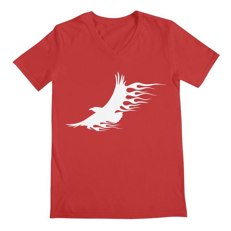 Flamin Eagle Men's Regular V-Neck by Taterskinz