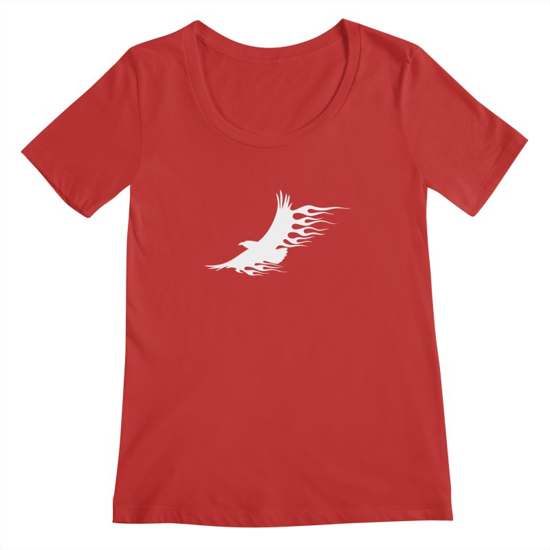 Flamin Eagle Women's Regular Scoop Neck by Taterskinz