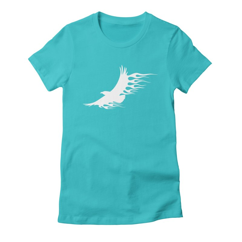 Flamin Eagle Women's Fitted T-Shirt by Taterskinz