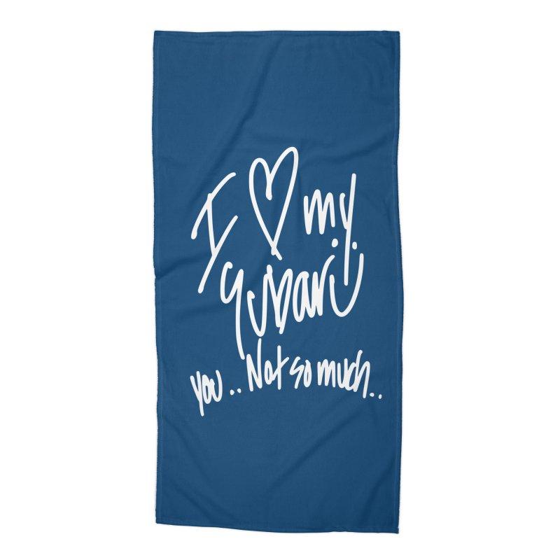 I heart my Subaru Accessories Beach Towel by Taterskinz