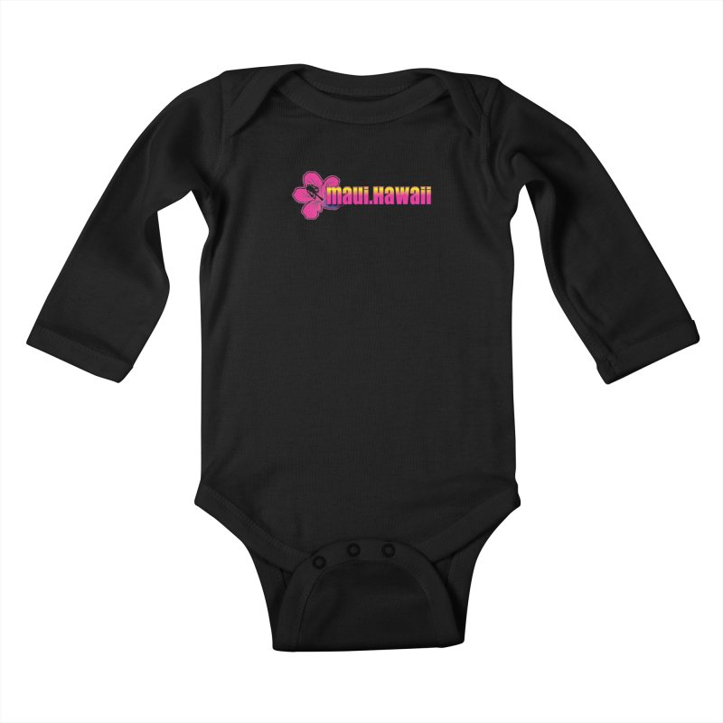 Maui Hawaii  Kids Baby Longsleeve Bodysuit by Taterskinz