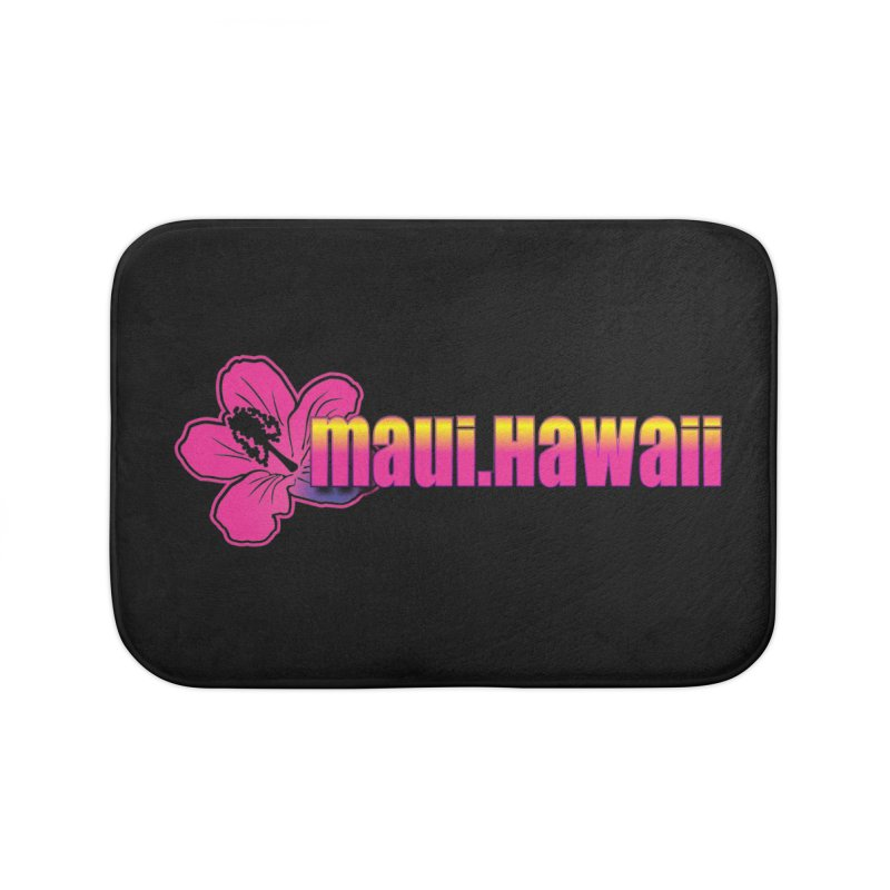 Maui Hawaii  Home Bath Mat by Taterskinz