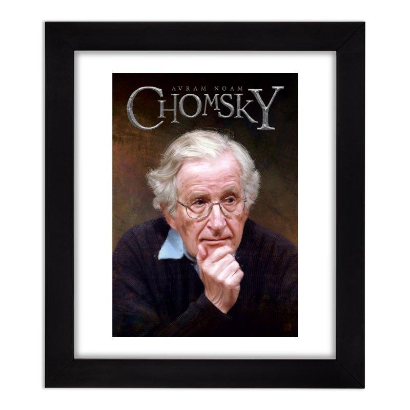 Noam Chomsky Art & Home Framed Fine Art Print by Tato