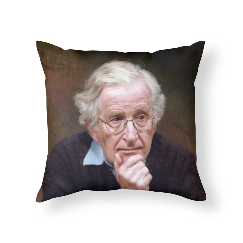 Noam Chomsky Home Throw Pillow by Tato