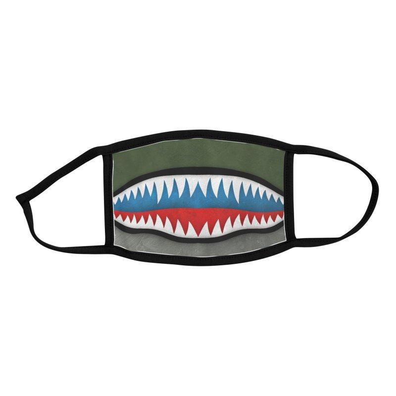 Shark Teeth Accessories Face Mask by Carlos Tato