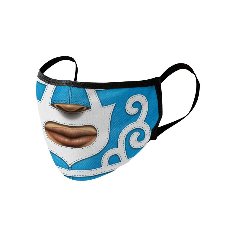 Mexican Wrestler (Blue) Accessories Face Mask by Carlos Tato