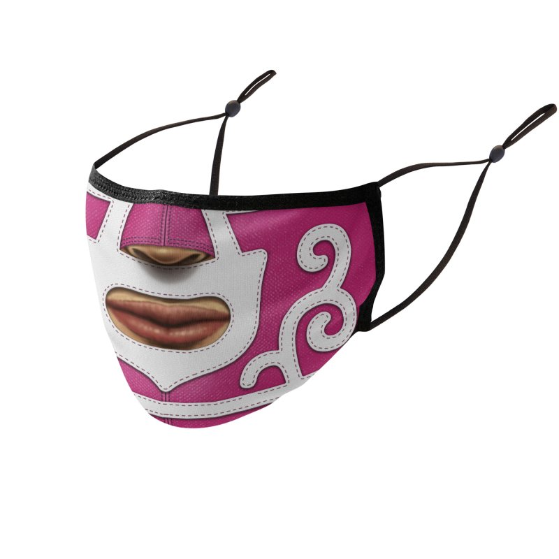 Mexican Wrestler (Magenta) Accessories Face Mask by Tato