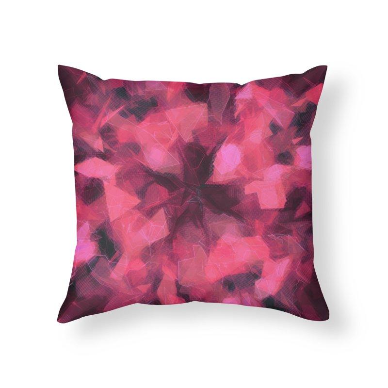 Garnet Shield Home Throw Pillow by Tato