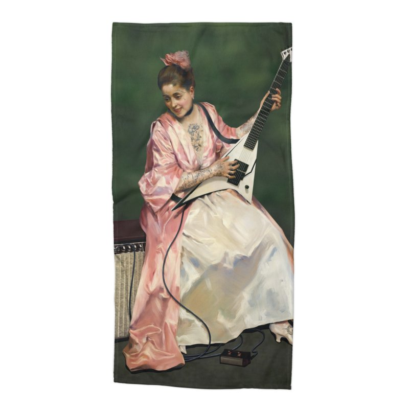 Aline with new guitar Accessories Beach Towel by Tato