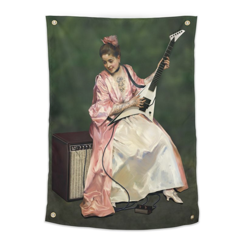 Aline with new guitar Art & Home Tapestry by Tato