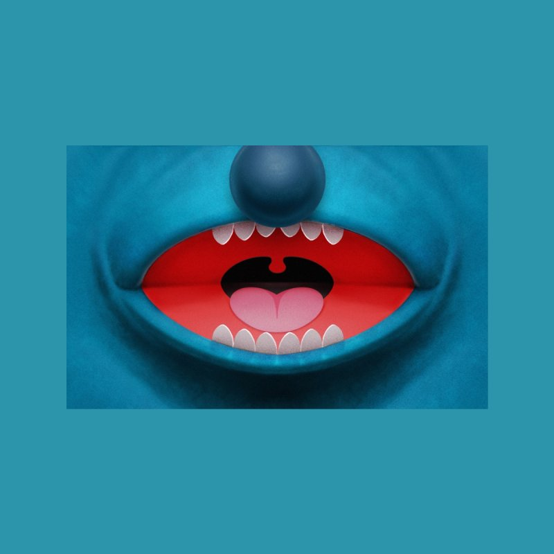 Toothed Blue Puppet Accessories Face Mask by Tato
