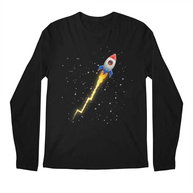 To the Moon All Gender Longsleeve T-Shirt by Tato