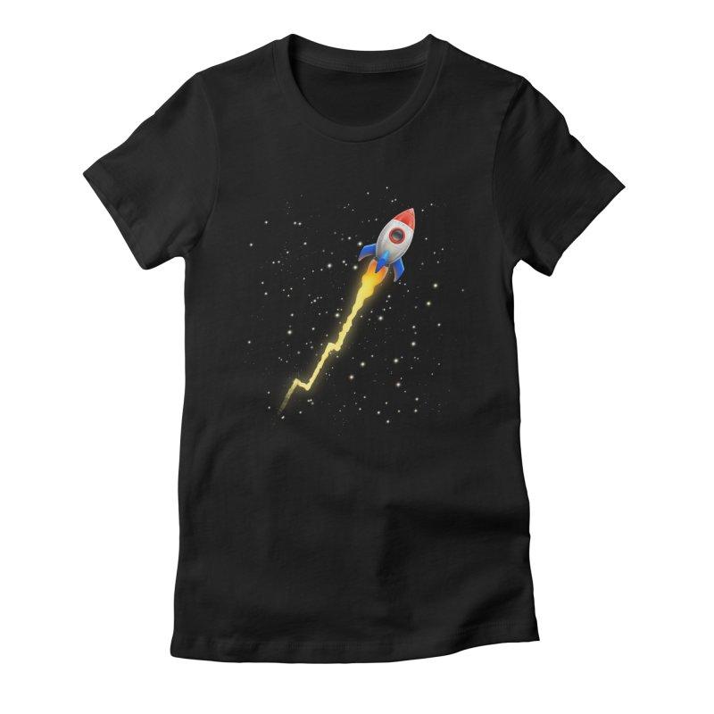 To the Moon Feminine T-Shirt by Tato