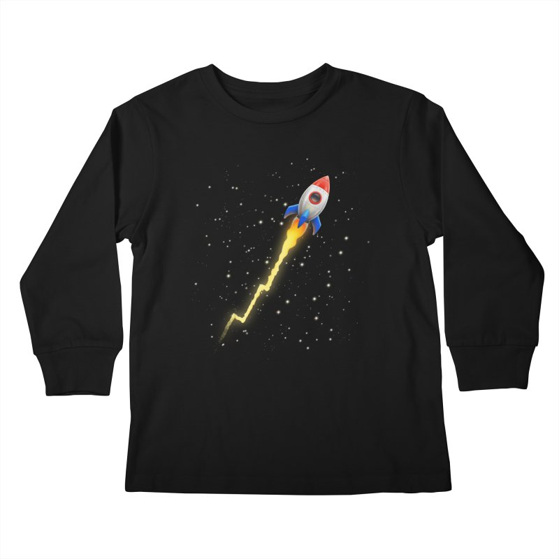 To the Moon Youth Longsleeve T-Shirt by Tato