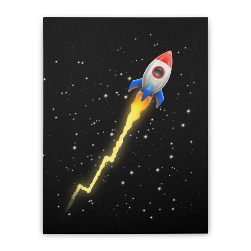 To the Moon Art & Home Stretched Canvas by Tato