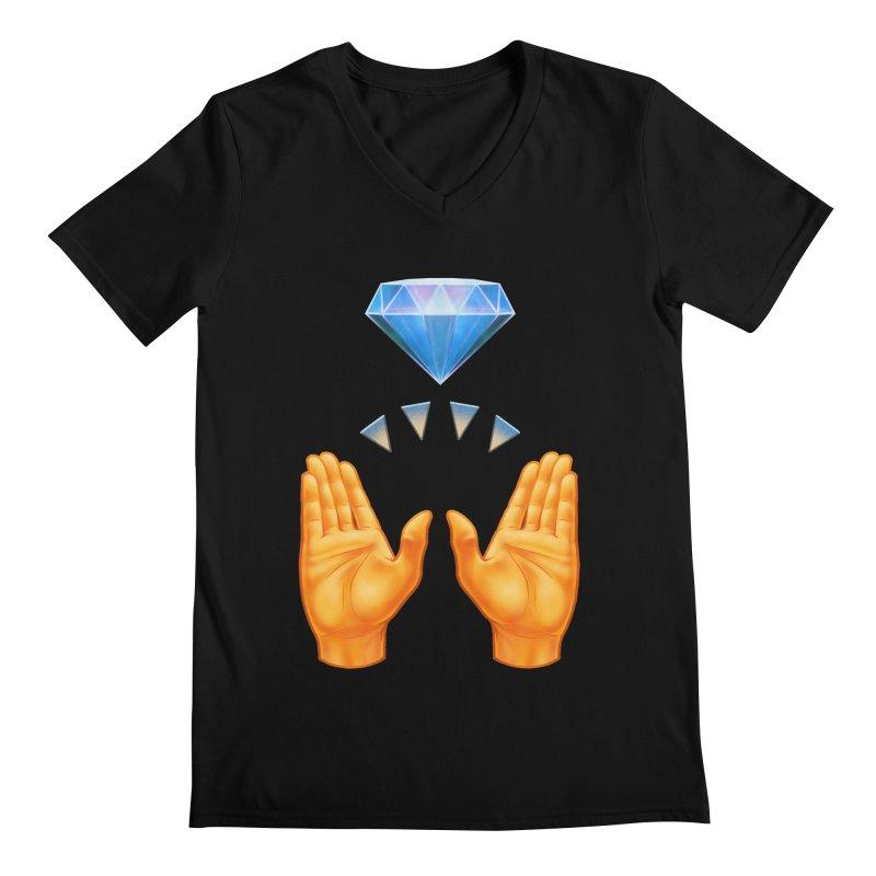 Diamond Hands All Gender V-Neck by Tato