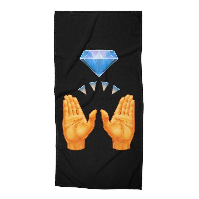 Diamond Hands Accessories Beach Towel by Tato