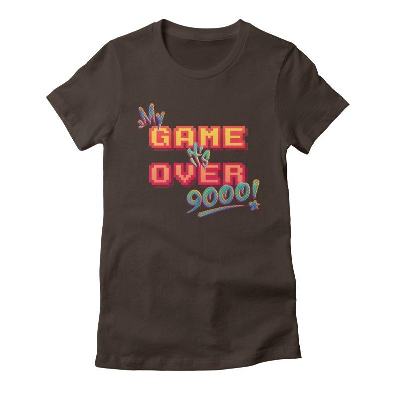 It's Over 9000! Feminine T-Shirt by Tato