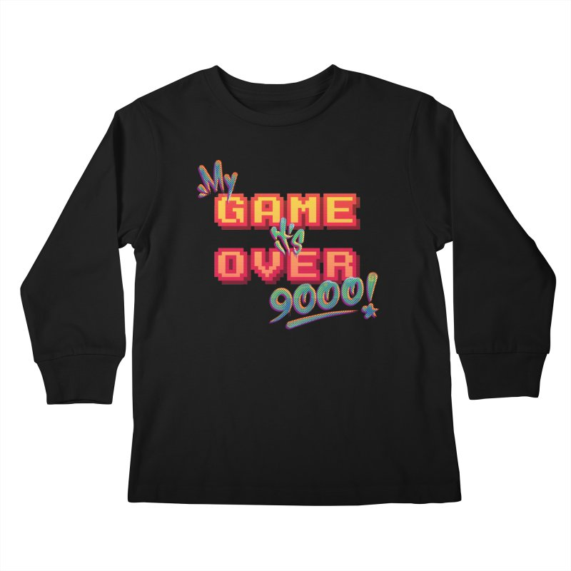 It's Over 9000! Youth Longsleeve T-Shirt by Tato
