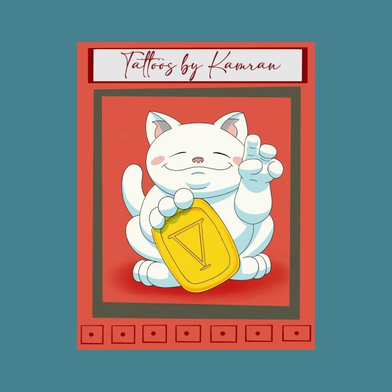 Tattoos by Kamran: Good Fortune Cat Accessories Bag by tattoosbykamran's Artist Shop