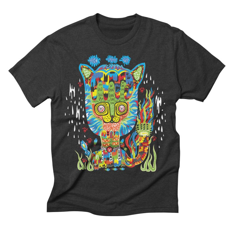 Hello Cat Men's Triblend T-shirt by Tauvikel