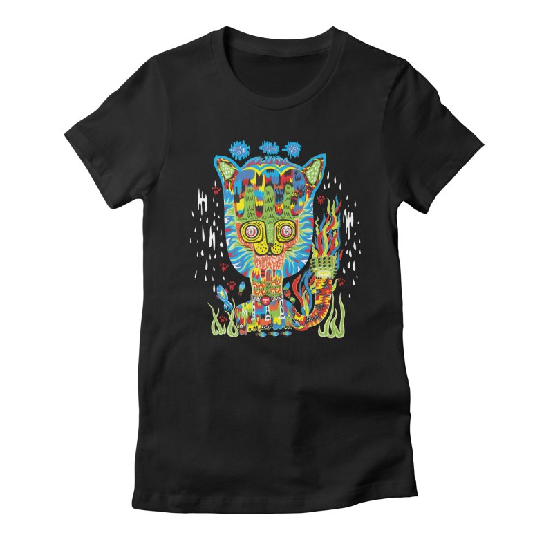 Hello Cat Women's Fitted T-Shirt by Tauvikel