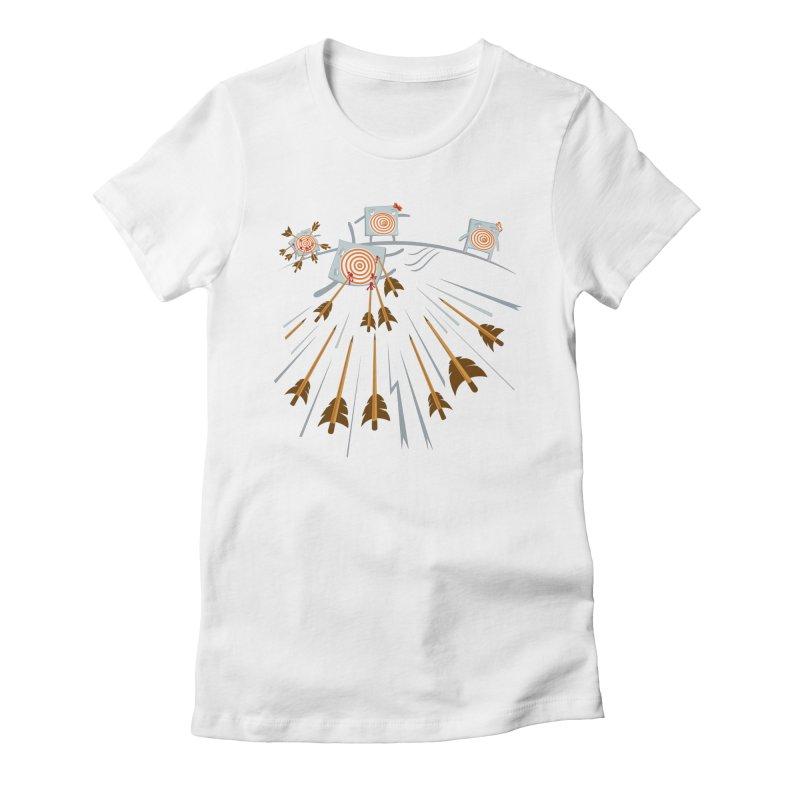 Hero Women's Fitted T-Shirt by Tauvikel